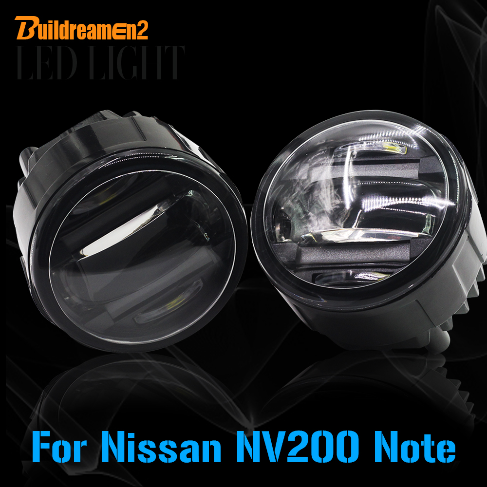 Buildreamen2 For Nissan Note NV200 Car Styling LED Front Fog Light Daytime Running Lamp DRL High Lumens 1 Pair