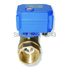 """DC12V motorized valve Brass 1"""" 2/3/5 Wires for fan coil heating water treatment"""