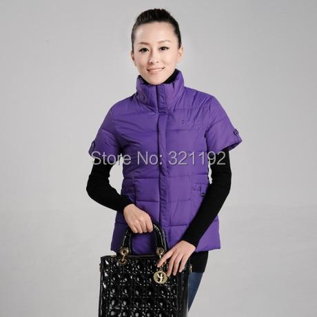 Woman Autumn Plus Size Thicken Down Vest Female Spring Oversized Warm Down Waistcoat Wom ...