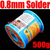 Free Shipping 63/37 Tin Lead 0.8mm Diameter Rosin Core Flux Solder Wire Reel Welding Soldering Welding repairs essential