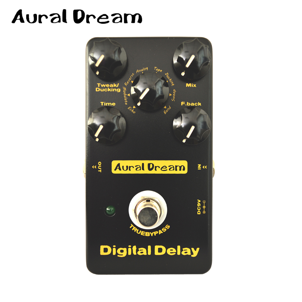 Aural Dream Electric Guitar Effects Pedal with True Bypass and Five Knobs of Digtal Delay