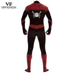 Image 3 - Vip Mode Spiderman Ver Van Huis Peter Parker Cosplay Zentai Van Justitie Superhero Vrouwen En Mannen Cosplay Kostuum Voor Unisex