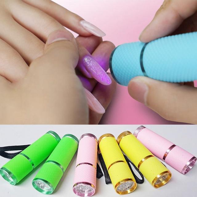 Mini UV Gel Que Cura La Lámpara Secador de Uñas LED Flashlight ...