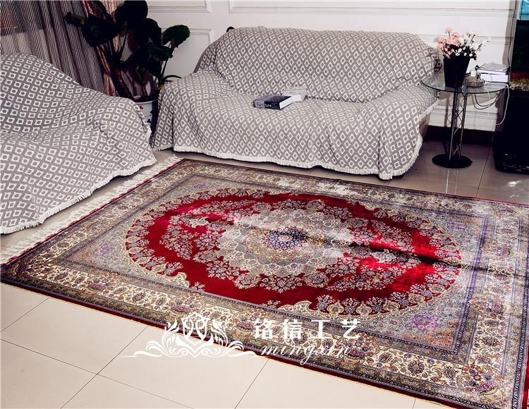 6'x9 'rouge persan Design tapis faits à la main chambre tapis de soie