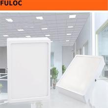FULOC led panel 8W/15W/20W/30W  Square Panel LED Aluminum LED Panel Light Surface Mounted Downlight ceiling down lamp