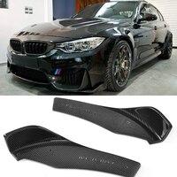 Углеродного волокна переднего бампера для губ сплиттеры фартук кожухи для BMW F80 M3 F82 M4 купе 2 двери 2014 2017 2 шт./компл. стайлинга автомобилей