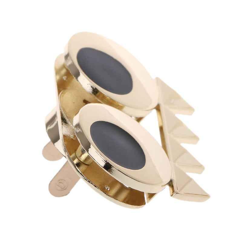 DIY מתכת חמוד עין אבזם תור טוויסט נעילה עבור מלאכת תיק כתף תיק ארנק חומרת חלקי תיק אביזרי תיק אבזמים