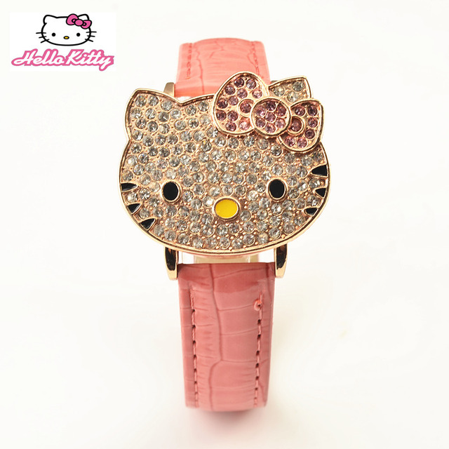 Hello Kitty Watch Clamshell Dial Kids Watches Cartoon Children's Watches For Girls Watch Clock relogio infantil menina