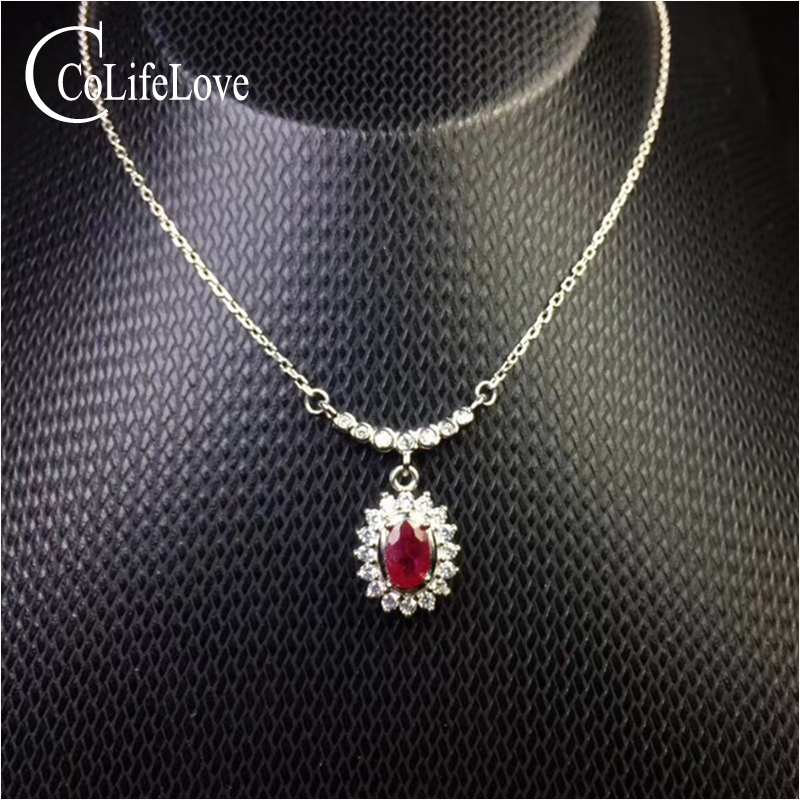Real natural blood red ruby pendant for wedding 0.5 ct ruby silver pendant solid 925 silver ruby jewelryReal natural blood red ruby pendant for wedding 0.5 ct ruby silver pendant solid 925 silver ruby jewelry