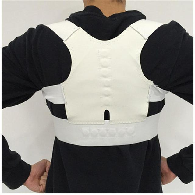 White Back support for women orthopedic 5c64f4fde99c1