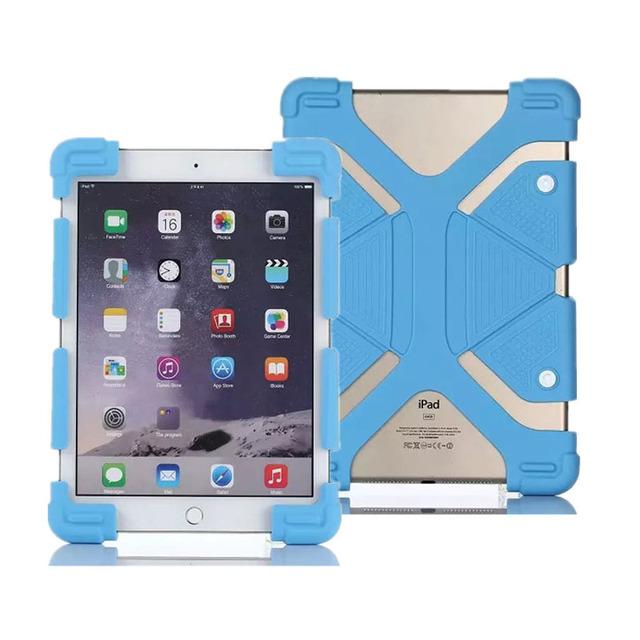 """Universal ajustável extensível suporte à prova de choque silicone case capa para 8.9 """"-12"""" 9.7 10.1 11 12 polegada tablets pc ipad samsung"""