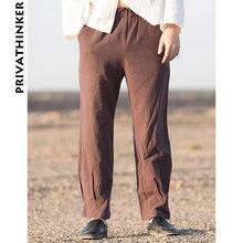 10da10e2149a Sinicism Store Men Clothes 2018 Man Cotton Linen Solid Khaki Sweatpants  Male Casual Korean Style Loose