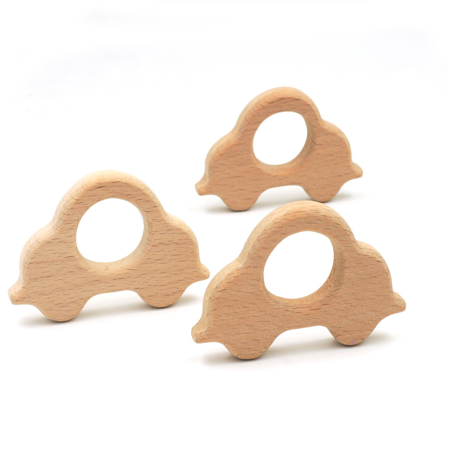 Mother & Kids Baby Teethers 2019 New Style 20pcs X 75mm Diy Organic Beech Wood Car Ring Teether Nursing Toy 3 Inch Diy Fitting Handcrafted Baby Boy Gift High Quality