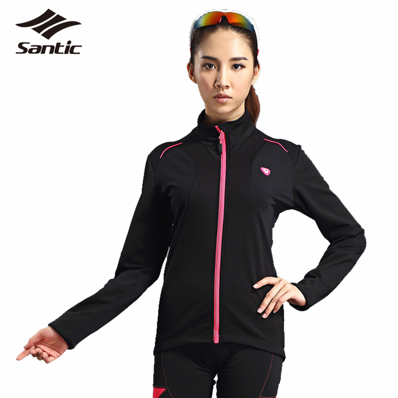 ФОТО Santic Women Cycling Jackets Long Sleeve 2017 Winter Warm Windproof Tour De France Bike Jacket MTB Road Bicycle Jersey Clothing