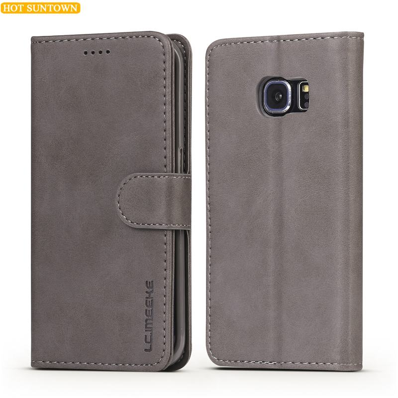 Luxury Leather Flip Case For Samsung Galaxy S6 Case Edge Samsung S6 Case Protective Wallet Phone Cover Galaxy S6 Edge...  samsung galaxy s6 case | Top 6 Samsung Galaxy S6 Cases! Luxury Leather Flip font b Case b font For font b Samsung b font font b