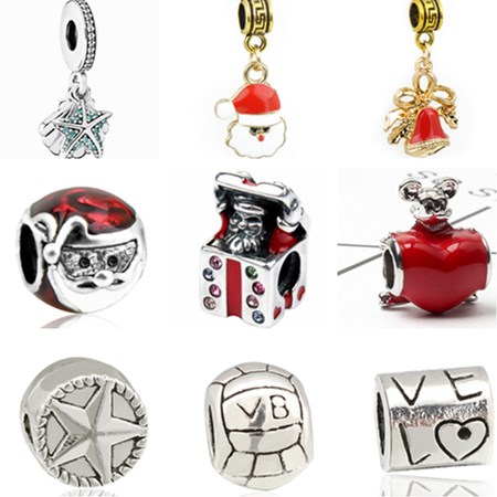Aifeili Wheat Beads Pendant Christmas Bell Old Man Mask Pendant Diy Fit Pandora Bracelet Jewelry European Charm At All Costs Beads & Jewelry Making Jewelry & Accessories