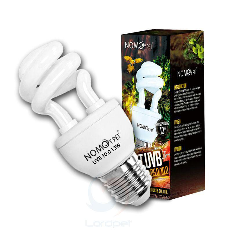 Reptile 10.0 UVB 13W Compact Light Fluorescent Desert Terrarium Lamp Bulb