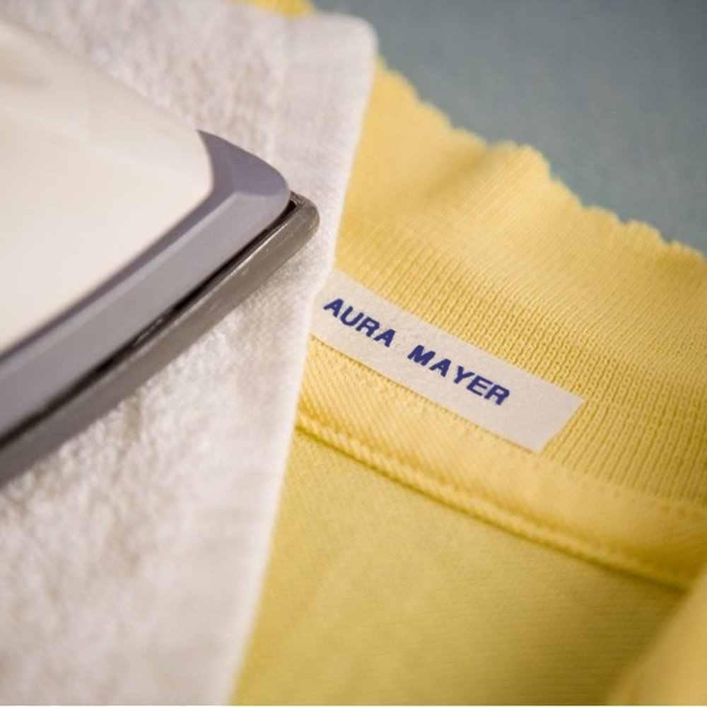 1 ชิ้น Tze FA3 ผ้าเหล็กบนฉลาก Brother P-touch เทป 12 มม.TZe-FA3 Navy BLUE สีขาวสำหรับ Brother TZ เทป 12 มม.