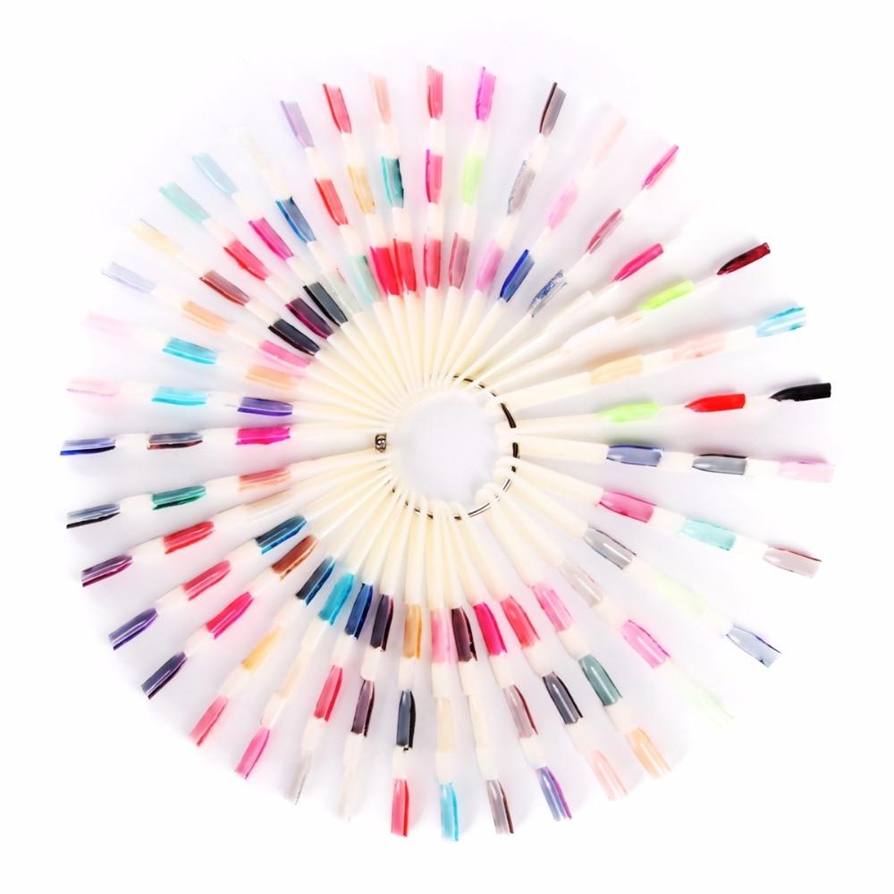 Makartt 150 Tips 3 Knots Nail Art Display Natural Chart Color Sample ...