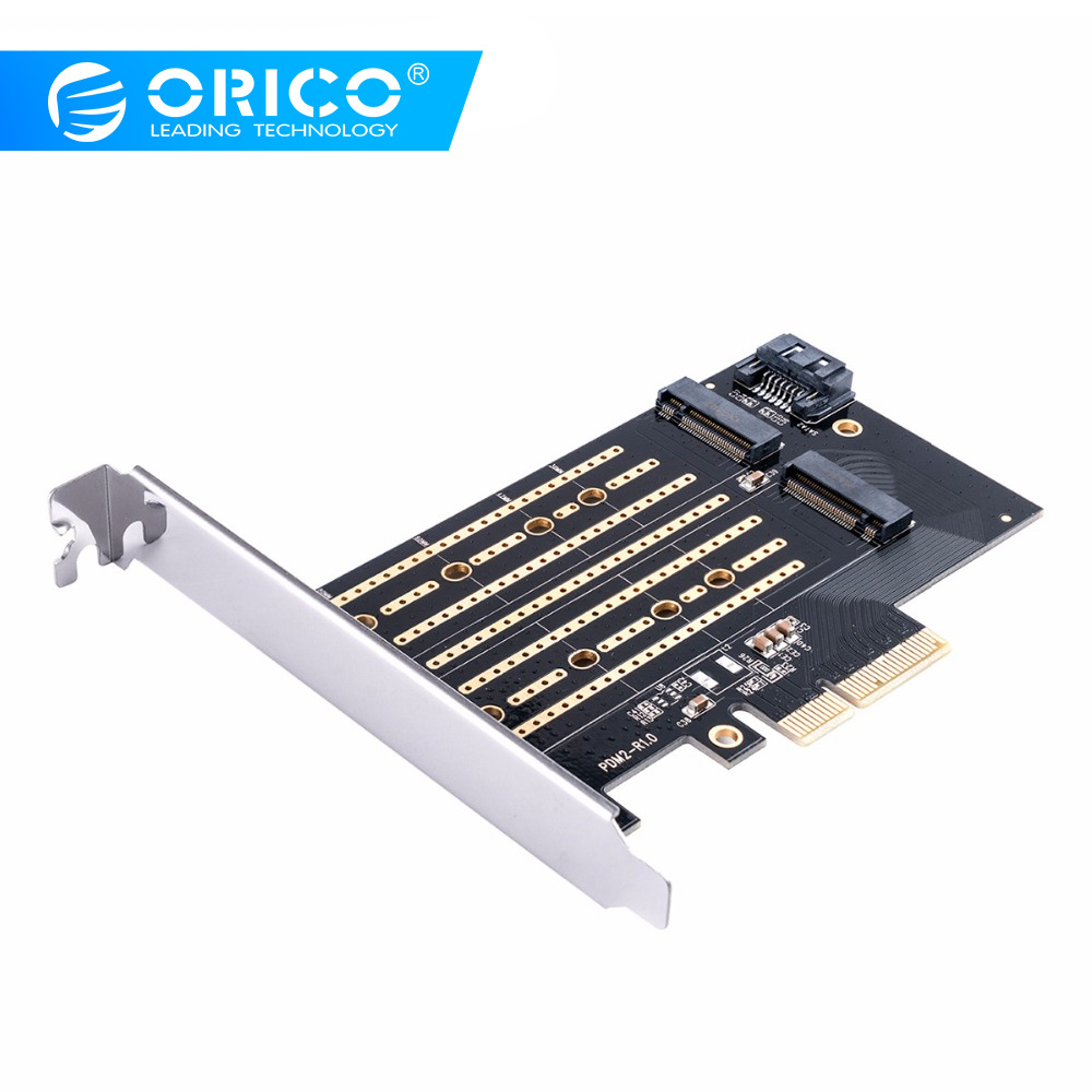ORICO M.2 NVME To PCI-E 3.0 X4 Expansion Card Dual Channels Dual Ports Support PCI-E Channel NVME And SATA Protocols 4TB Max