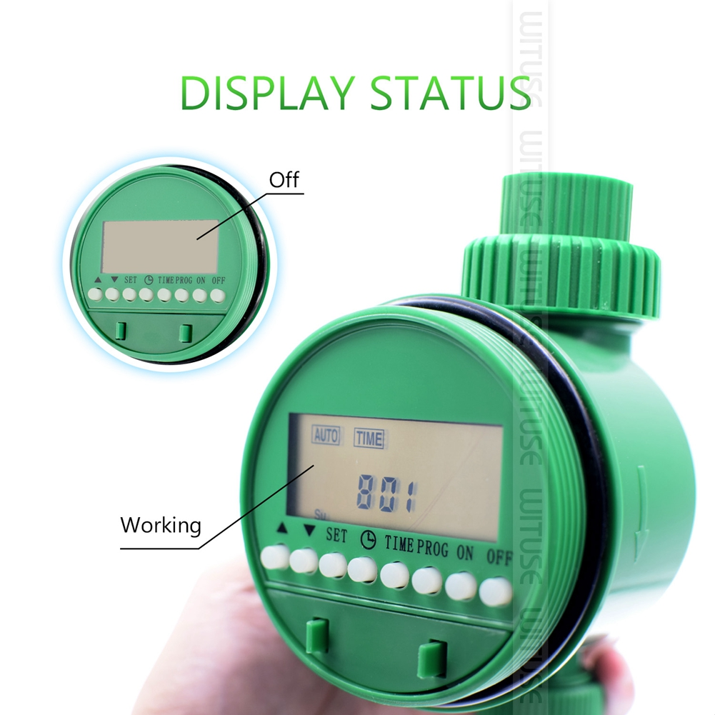 Image 3 - Garden Watering Timer Ball Valve Automatic Electronic Water Timer Home Garden Irrigation Timer Controller System-in Garden Water Timers from Home & Garden