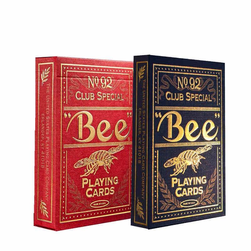 1 Deck Bee Golden Playing Cards No.92 Club Special Deck Högkvalitativa Collection Card Magic Tricks