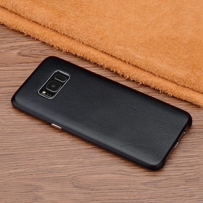 Untuk Samsung Galaxy S8 Ditambah Kasus Penutup Mewah Kulit Asli Keras - Aksesori dan suku cadang ponsel - Foto 4