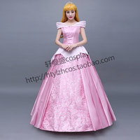 Top Quality New Arrival Custom Made Sleeping Beauty Princess Aurora Cosplay Costume For Adult Women Party