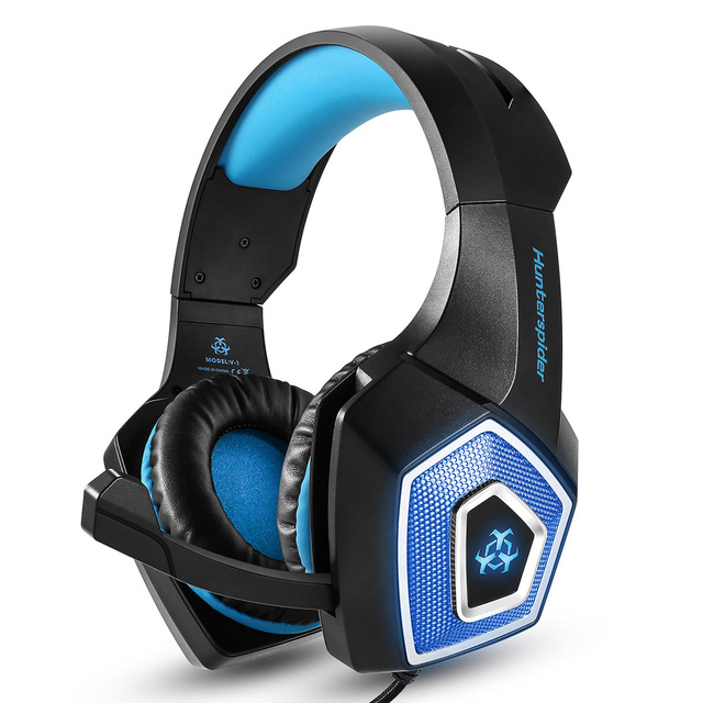 8fd931a9d4e Hunterspider V-1 3.5mm Wired Gaming Headsets Over Ear Headphones Noise  Canceling Earphone with
