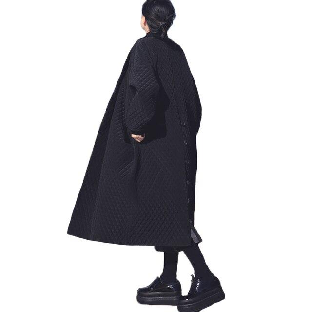 Европейские и американские большой бренд длинные свободные черный ветровка длинный плащ пальто для Для женщин