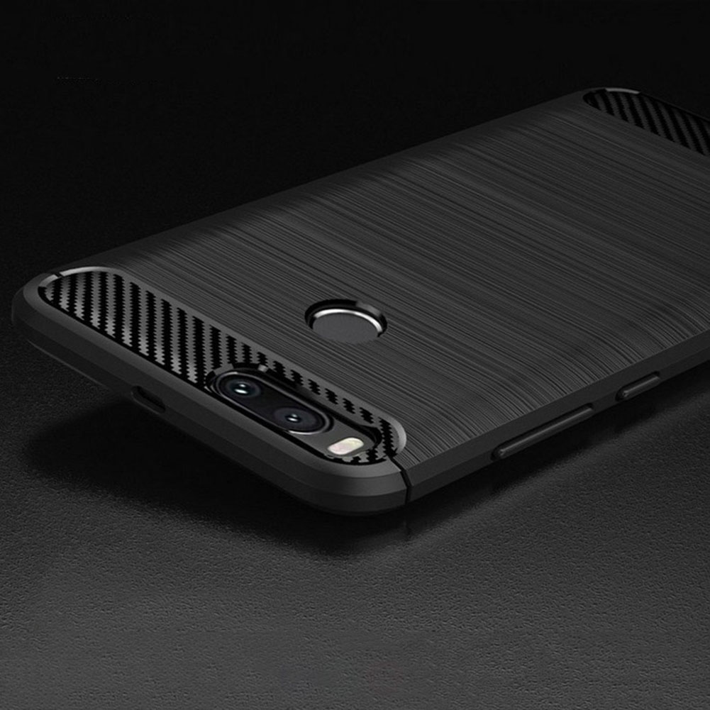 Luxury Cover Case Silicone Soft Carbon Fiber Back Phone Cases For Xiaomi A1