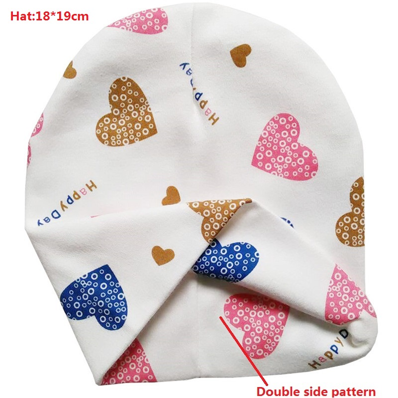 New Baby Hat Spring Autumn Cotton Baby Cap Cute Cartoon Cap Beanies for Boys and Girls Toddler Baby Scarf