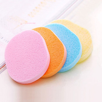 4pcs Oval Shape Facial Puff Face Wash Cleansing Sponge Soft Makeup Seaweed Sponge Skin Care Cleanser Tools 3