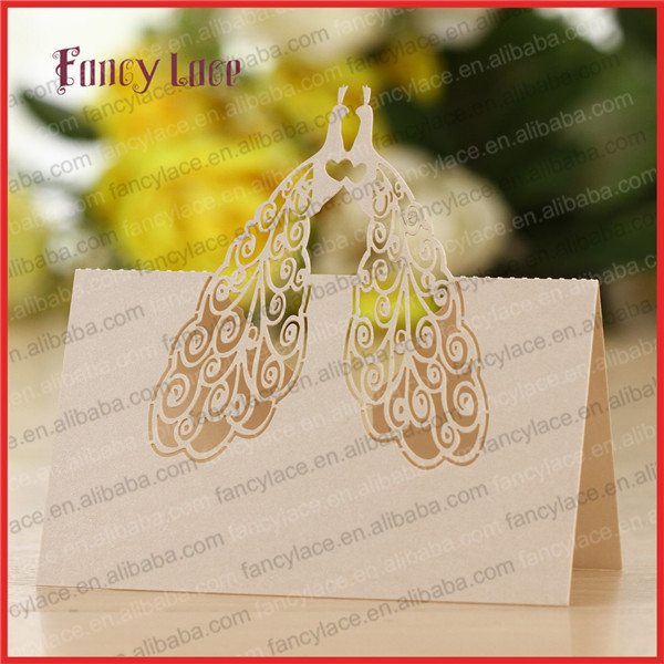50pcs laser cutting wedding invitation decorations place for Decoration table pour invites