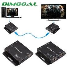 HDV-E50C 50m HDMI Extender HD 1080P Over Single CAT5E / CAT6 for DVD Blu-ray Players HDTV Set-Top Box US EU Plug
