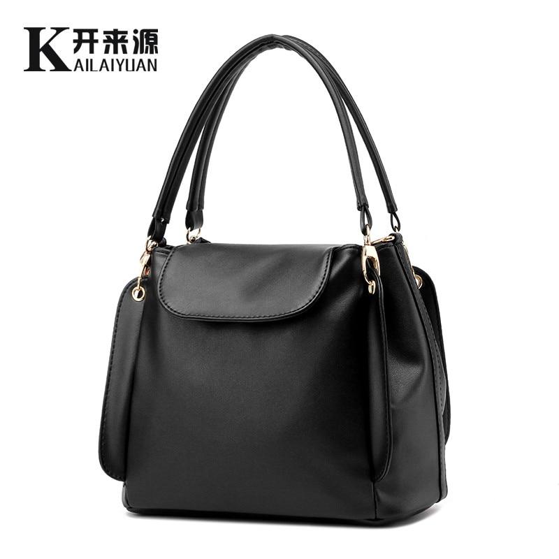KLY 100% Véritable cuir Femmes sacs à main 2018 Nouveau paquet femelle simple logiciel portable épaule sac de Messager des femmes
