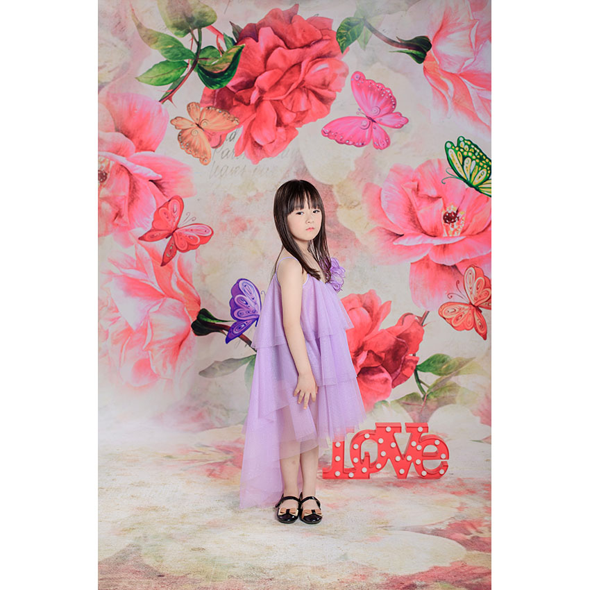 Vinyl Photography Backdrop Computer Printed Red Flowers Newborn Custom Background Children Backgrounds for Photo Studio SZ-10 photo vinyl backdrop top promotion studio photography backgrounds 6 5ftx10ft 2x3m computer paint foldable free shipping