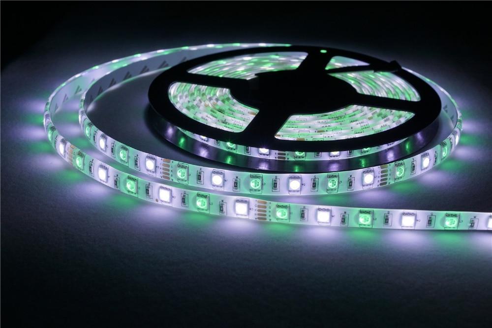 RGBW LED Strip 5050 DC12V Flexible LED Light RGB + White / RGB + Warm White 60 LED/m 5m/lot Waterproof LED Controller