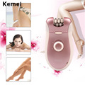 2 in 1 110-220V Electric Rechargeable Women Epilator Beard Shaver Depilador For Face Body Arm Leg Bikini Underarm EEBT09_033