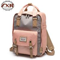 Patchwork Backpack Women Large Capacity Waterproof Backpack Bags For Women Students Fashion Vintage Backpack Mochilas