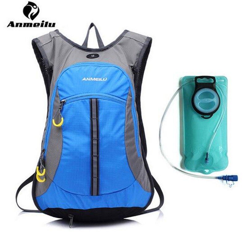 ANMEILU Outdoor Bags Sports Climbing Backpacks Women Men Nylon Hiking Camping Cycling Bicycle Bags Optional 2L Water Bag harlem hl 401 outdoor sports hiking cycling tpu water bag sky blue 2l