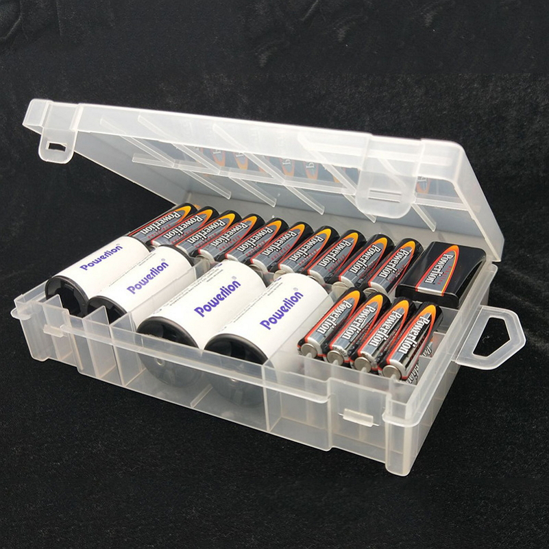 Transparent Plastic Battery Holder Case Battery Storage Case Holder Organizer Storage Box Container for AA/AAA/9V/C/D Batteries 1pc st013b hold four aa battery box diy cell box no 5 battery holder no lid plastic battery holder storage box part tool
