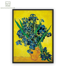 2f8e894fc1b Impressionist Artist Vincent Van Gogh Fleur De Lis Oil Painting Replica Canvas  Painting Irises Wall Decor For Living Room