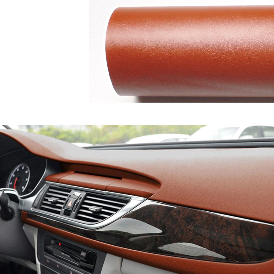 Car interior brown - Bbq Fuka 59 84 X 39 37 3d Diy Brown Black Leather Texture Car