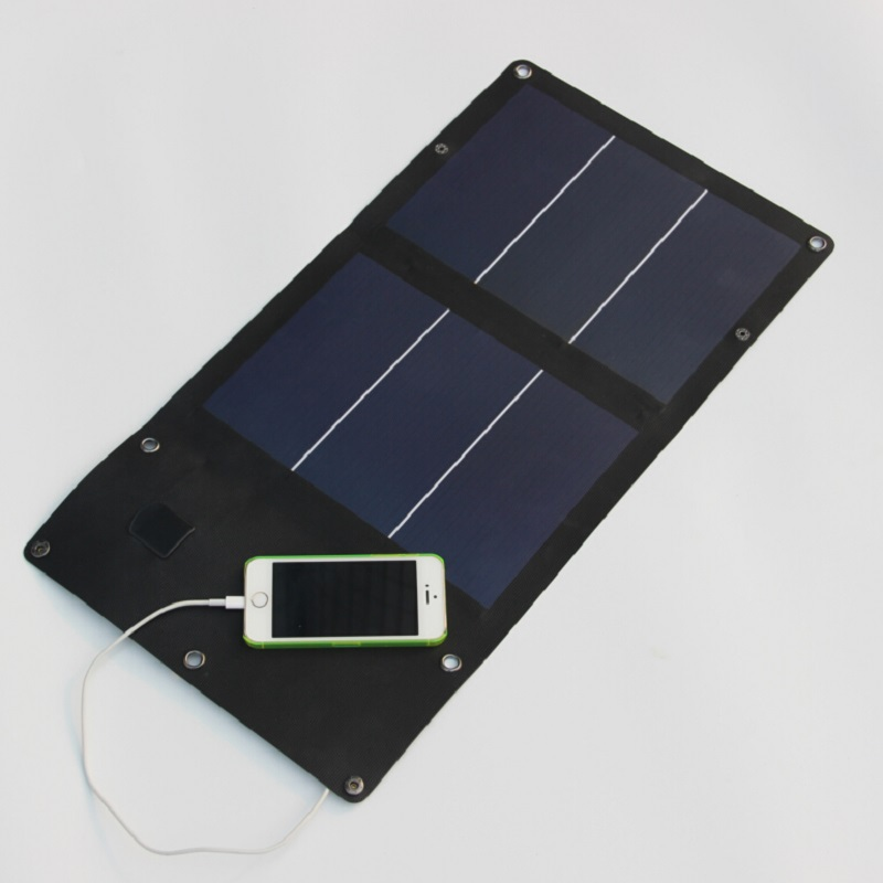 6W Portable Solar Panel Battery Charger for iPhone Etc Foldable Solar Panel Charger Bag+Flexible Waterproof  Free Shipping