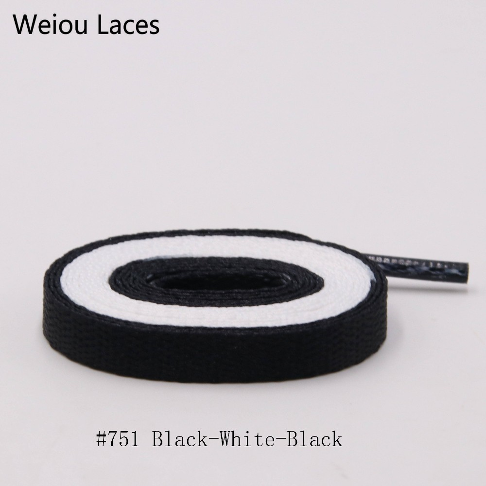 Weiou 170cm Extra Long Air Joint Name 2 Tone Flat Shoelaces Black White Beige Red Splice Bootlace For Sneakers Sports Shoe Laces