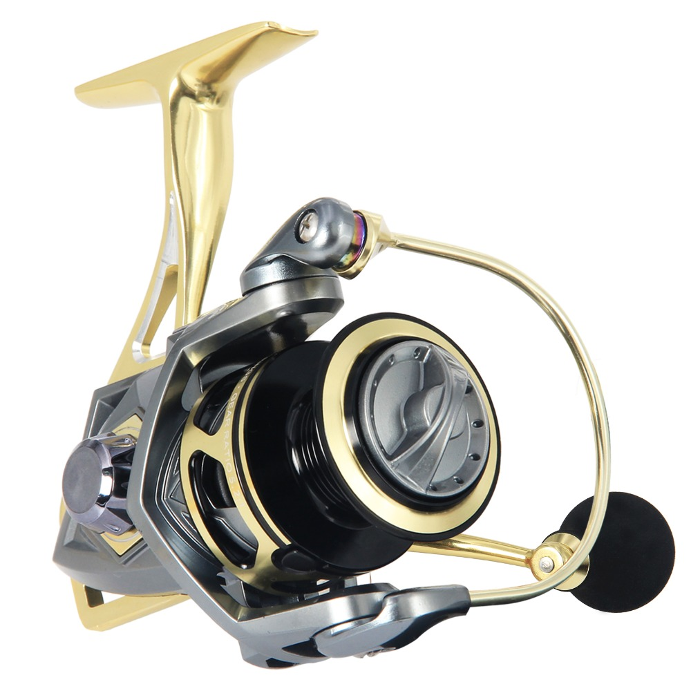 Bumblebee Spinning Fishing Reel 10BB Aluminum Saltwater Sea Fishing Reel Max Drag Over 20KG Metal Coil Boat Fishing Reel Wheel 1pc new aluminum alloy fishing reel water resistant carbon drag spinning reel larger spool max drag 20kg for sea fishing wheel