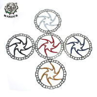 WARDER 1pc Bicycle Disc Brake 160mm 180mm 203mm MTB 5 Colors Stainless Steel Disc Brake Rotor