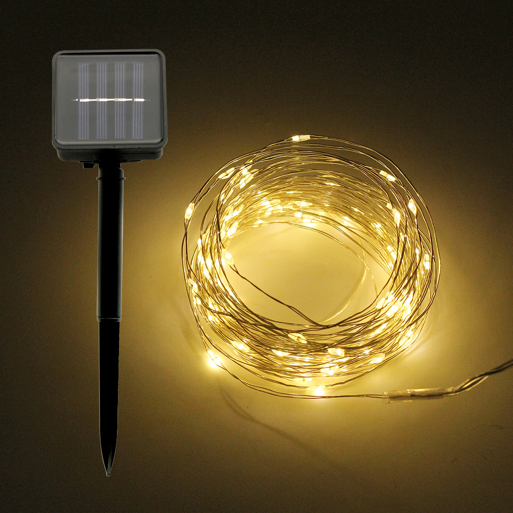 10M 33ft Solar Powered Lamp LED String Light Bulb 100led Waterproof Christmas Fairy Garland For Outdoor Garden Street Decoration