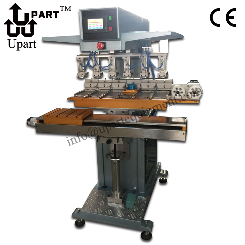 Auto Clean Pad System And PLC Controller Six Colors Kent Pad Printing Machine